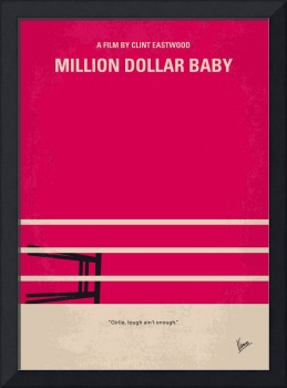 No613 My Million Dollar Baby minimal movie poster