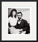 Abe Lincoln and Betty Page by David Caldevilla