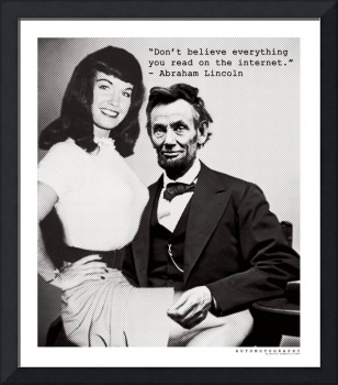 Abe Lincoln and Betty Page