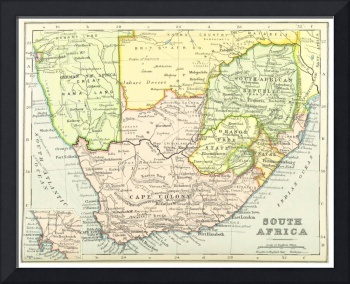 Vintage Map of South Africa (1899)