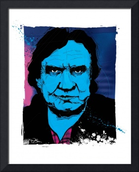 Johnny Cash Portrait by Michael T. Bane