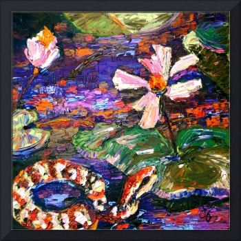 Copperhead Snake in The Okefenokee Oil Painting