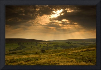 Sunrays Through Clouds, North Yorkshire, England