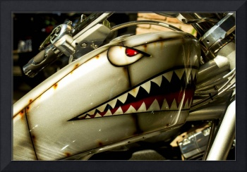 The shark. Custom painted Harley tank