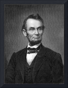 Engraving Of Portrait Of Lincoln From Brady Photog
