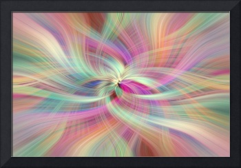 Rainbow Colored Abstract. Concept Divine Virtues