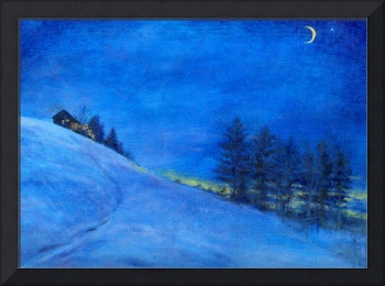 Enchanting Blue winter nocturne