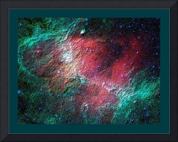 Abstract Decorative Eagle Nebula Infrared View bor