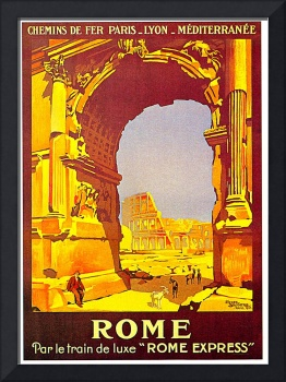 Rome Express Train Vintage 1921