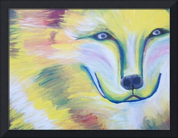 Whimsical Wolf Face