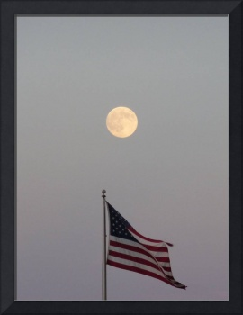 Old Glory and the Moon