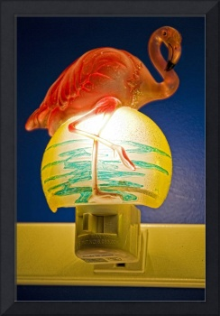 flamingo on night-light