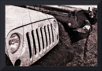 Distressed Jeep Wrangler Jk