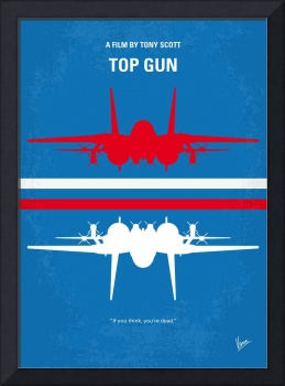 No128 My TOP GUN minimal movie poster