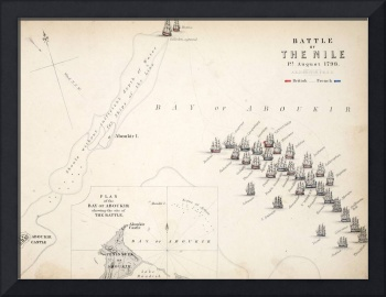 Map of the Battle of the Nile