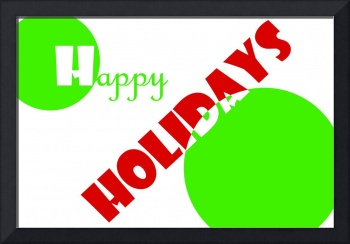 Art Deco Happy Holidays Greeting Card