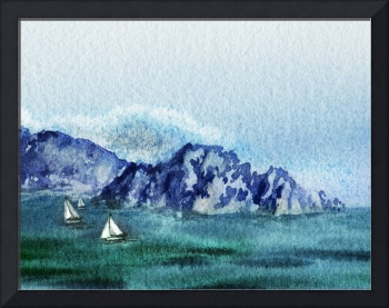 Seascape With The Sailboats