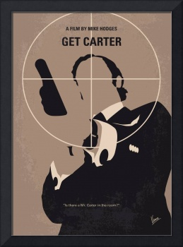 No557 My Get Carter minimal movie poster