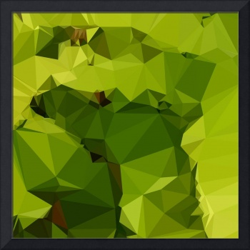 Avocado Green Abstract Low Polygon Background