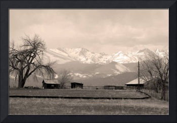 Boulder County Sepia Country Views