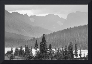 Rainy Summer Afternoon Indian Peaks  BW