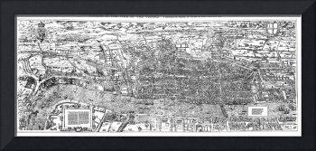 Vintage Map of London (1560)
