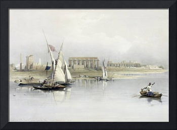 General View of the Ruins of Luxor from the Nile
