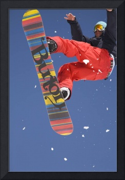 Snowboard jumping on Vogel mountain