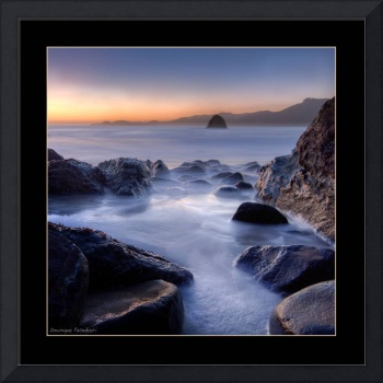 Marshall's Beach - California (Black frame)