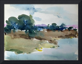 Watercolor - River Bank