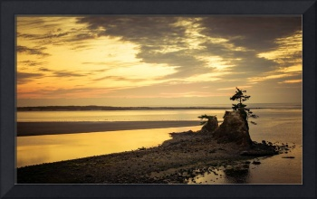 Pastel Sunset Siletz Bay-