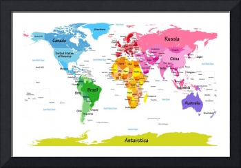 World Map with Big Text