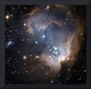 Newly formed stars in the Small Magellanic Cloud.