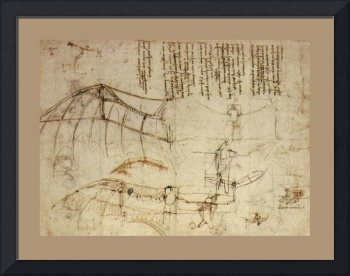 Design For A Flying Machine 1488 AD Meduim Border