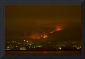 Lefthand Canyon Wildfire Night Time View