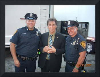 Pacino at Righteous Kill movie set 2007 Ct Ave. Br