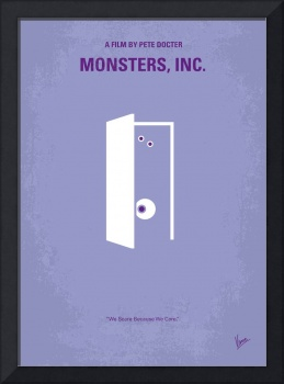 No161 My Monster Inc minimal movie poster