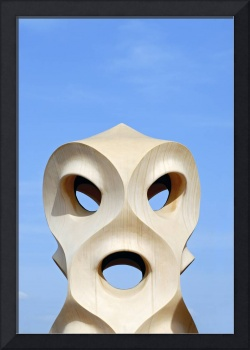 Warrior-like Chimney, Casa Mila, Barcelona