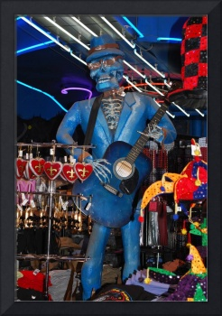 Blue Skeleton guitar man, New Orleans