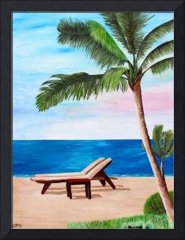 Caribbean Strand with Beach Chairs