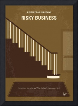 No615 My Risky Business minimal movie poster
