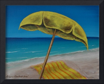 Yellow Beach Umbrella