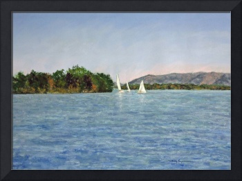 Trio of Sailboats, Smith Mountain Lake