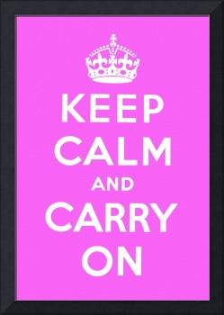 Purple Keep Calm And Carry On 9