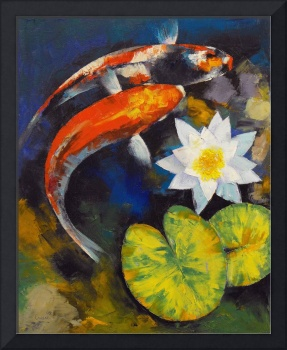 Koi Fish and Water Lily