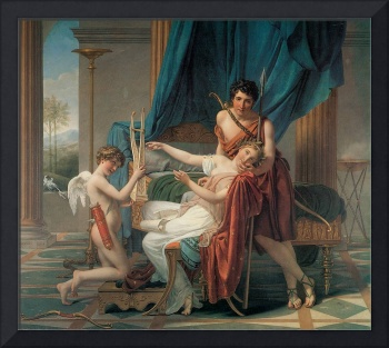 Sappho and Phaon by Jacques-Louis David