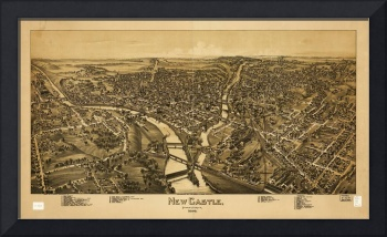 Aerial View of New Castle, Pennsylvania (1896)