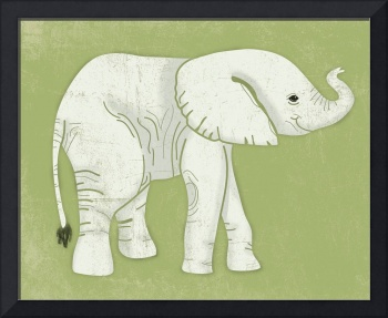 Baby Elephant in Lime Green
