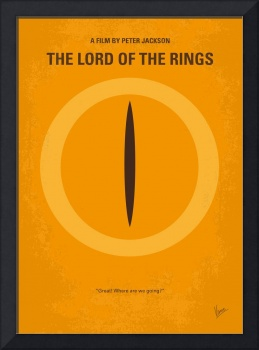 No039 My Lord of the Rings minimal movie poster