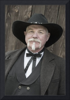 Re-enactor as Morgan Earp